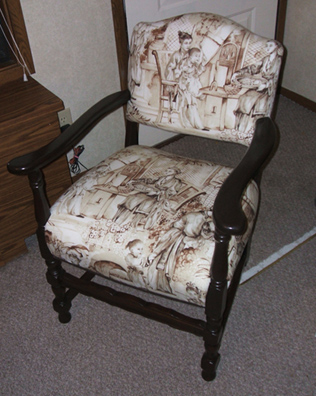 chair recovering lake and geauga counties served by Tom's furniture